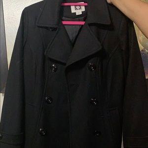 Anne Klein black trench coat